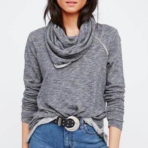 Free people beach cowl pullover top